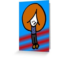 Big Hair Boy Greeting Card