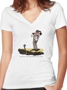 They Can Probably Smell Fear Women's Fitted V-Neck T-Shirt