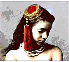 "Vintage Moroccan Beauty  ""The Concubine"" Photographic Print"