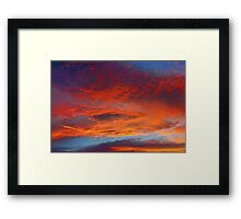 The Heavens Declare II Framed Print