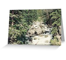 Bubbling Stream Greeting Card