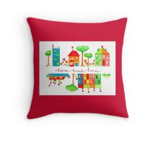 Home sweet home illustration Throw Pillow