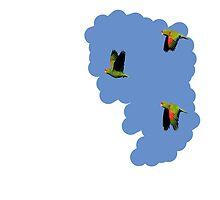 Flying parrots by mbaialardi