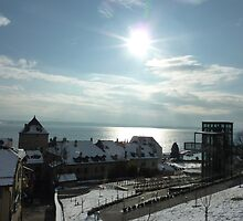 Winter's Day over Lac Leman - Nyon, Switzerland by AshyiaFrancis