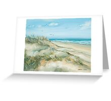 Along the Beach Greeting Card