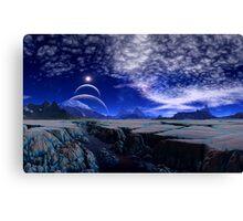 Blue Silk Canvas Print