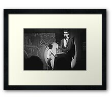 Robbie and Sarah Miller perform at Sedition 1983 Framed Print