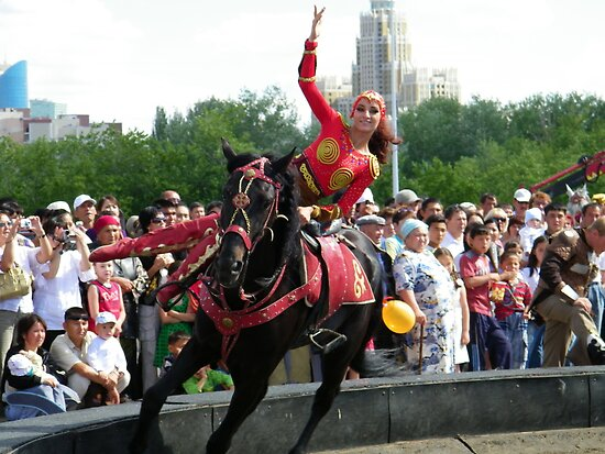 Kazakh Horse Acrobatics on Astana Day by KZBlog