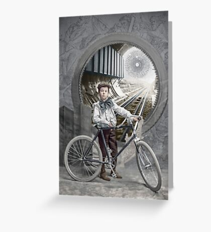 Boy on the Threshold Greeting Card