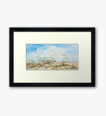 Dune Oats Framed Print