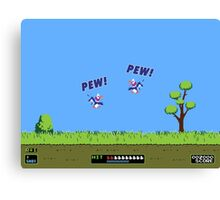 Duck Hunt! Pew! Pew! Canvas Print
