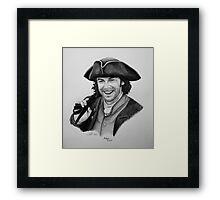 Aidan Turner as Ross Poldark - Portrait Framed Print