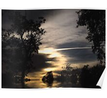"""'Late sky reflected"""" Poster"""