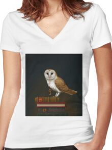 Key to Knowledge Women's Fitted V-Neck T-Shirt