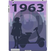 1963 scooter girl art iPad Case/Skin