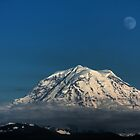Moon over Rainier by James Duffin