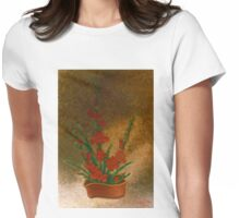 Ikebana with gladioli Womens Fitted T-Shirt