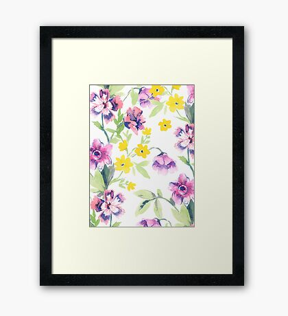 Garden Floral Framed Print