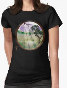Oriental Window Womens Fitted T-Shirt