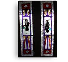 Magpie Front Door Canvas Print