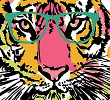Hipster Tiger by anabellstar