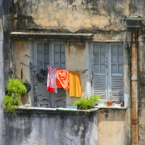 The washing line, Brazil by John Dalkin