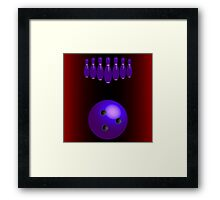 Bowling pins and ball Framed Print