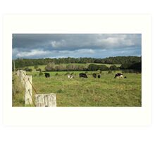 A Serene Country Landscape. Art Print