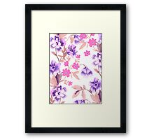 Garden Journal Purple Framed Print