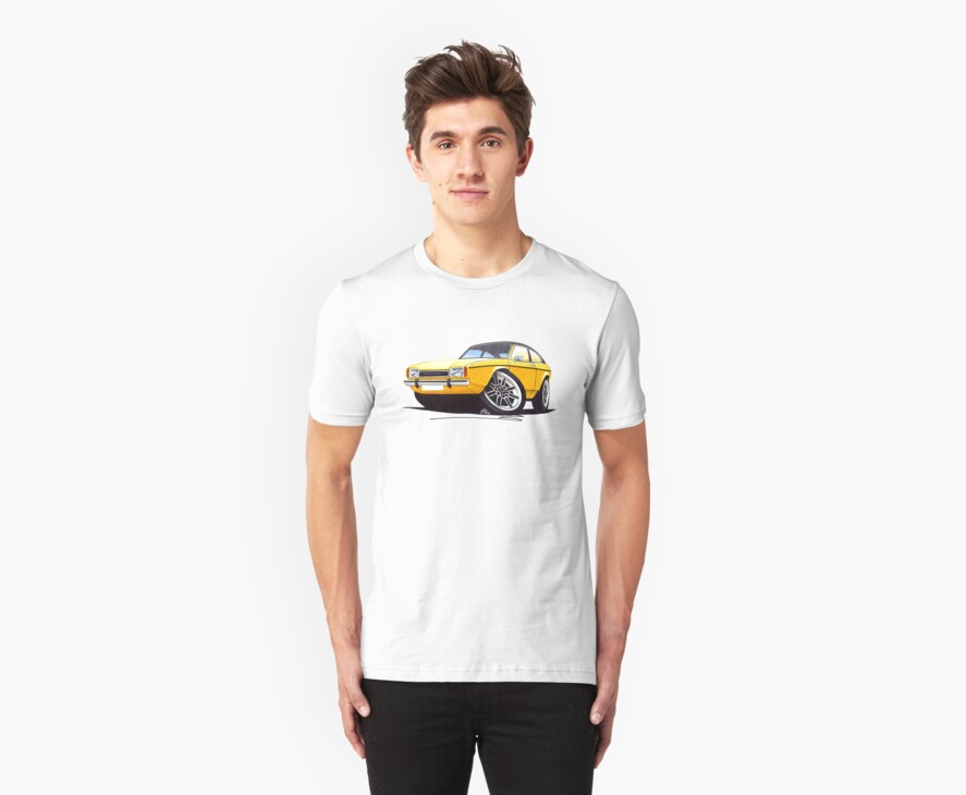Ford Capri (Mk2) Yellow by Richard Yeomans