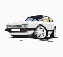 Ford Capri (Mk3) White by Richard Yeomans