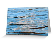 coarse old wood painted Greeting Card