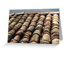 old roof tiles texture Greeting Card