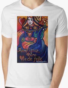 Remplissez Votre Vie de Joie Mens V-Neck T-Shirt