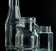 crystal bottles and containers by Josep M Penalver