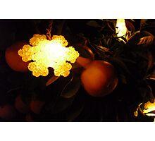 Grapefruit Snowflake Photographic Print