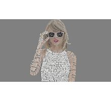 Taylor Swift Typography Photographic Print
