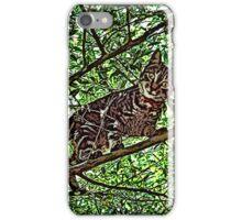 Cat In Tree #1b iPhone Case/Skin