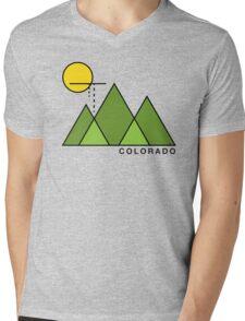 Minimal Colorado Mens V-Neck T-Shirt
