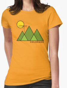 Minimal Colorado Womens Fitted T-Shirt