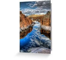 Between A Rock and a Cloud Space Greeting Card