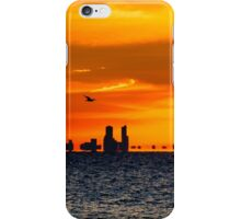 Flying Over the Chicago Skyline at Sunset iPhone Case/Skin