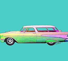 57 Chevy Nomad Wagon Tees, Pads, Blanky, Stuff! by ChasSinklier
