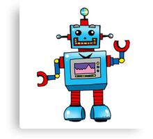 Fun toy robot cartoon Canvas Print