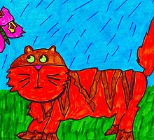 SPARKLES CHASES A BUTTERFLY by Kim  Magee