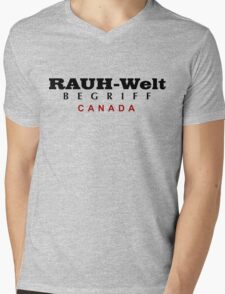 Rauh-Welt Begriff Canada Mens V-Neck T-Shirt