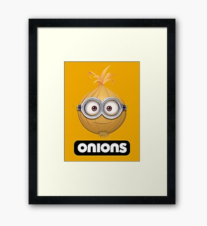 Onions - A Parody Framed Print
