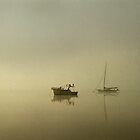 A real pea soup morning-Tamar River by nealbrey