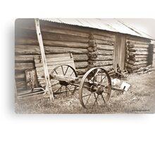 Log Gaol and Wagon Canvas Print