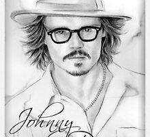 Johnny Depp portrait by wu-wei